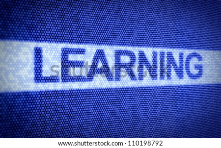 3d illustration of learning text on computer screen