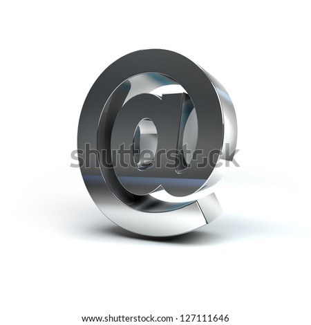 3D Illustration of Metal Character Render isolated on White Background