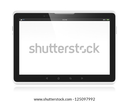 3D illustration of modern tablet computer isolated on white background - stock photo