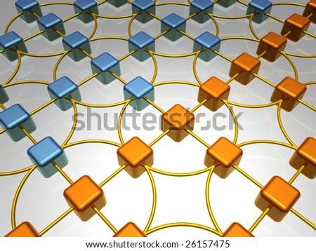 3D Illustration of Network - stock photo