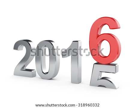3d illustration of 2016 New Year comming concept