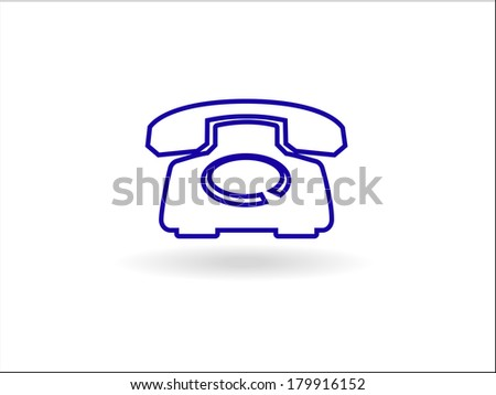 3d  illustration of old phone icon - stock photo