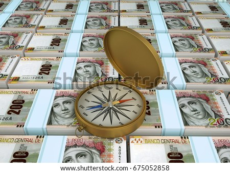 3 d illustration peru money compass stock illustration 675052858 3d illustration of peru money with compass altavistaventures Image collections