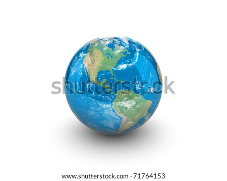 3d illustration of planet - stock photo