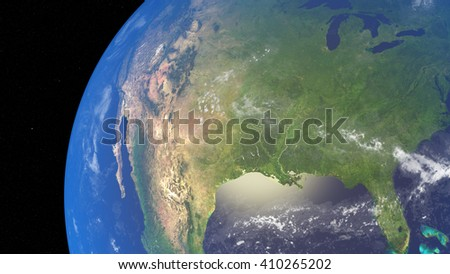 3D illustration of planet Earth with continents and blue ocean waters