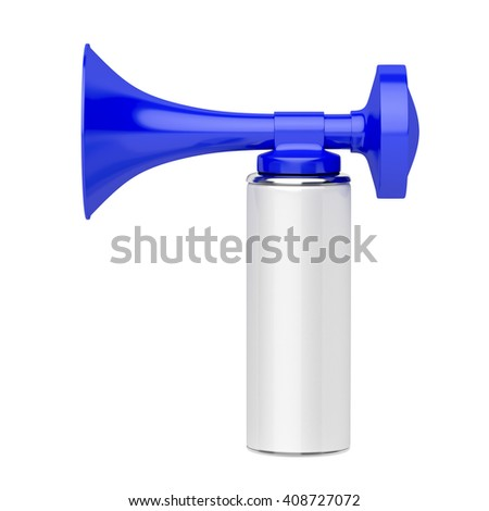 3d illustration of portable air horn isolated on white background