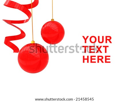 3d illustration of red xmas background over white