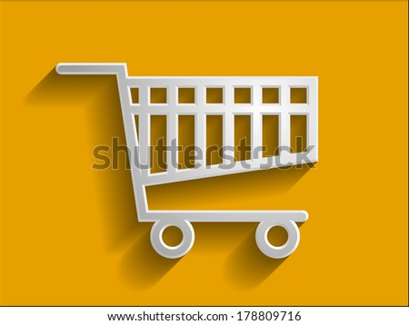 3d  illustration of shoppind cart icon - stock photo