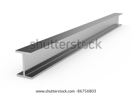 3d illustration of steel girder isolated on white background - stock photo