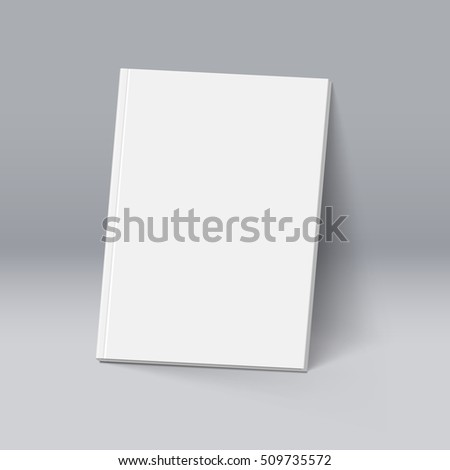3D Illustration. Raster version. White Book. Illustration for Design. Mockup Template