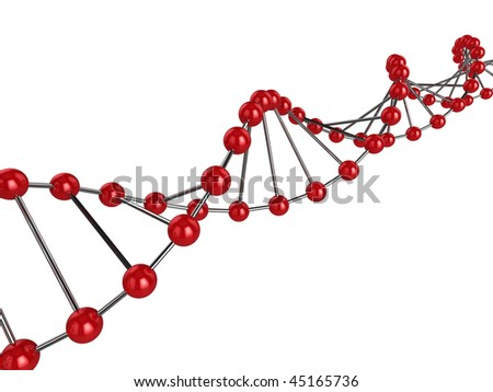 3d illustration representing DNA