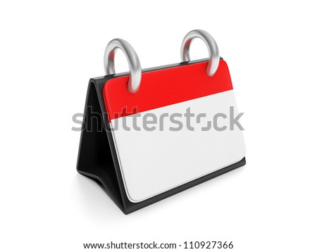 3d illustration: stationery items. Design Concept calendar - stock photo