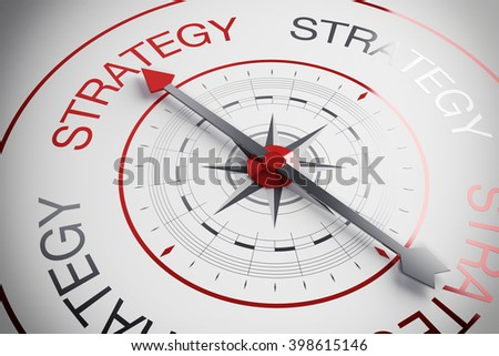 3d illustration Strategy compass - stock photo