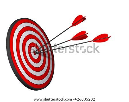 3D illustration target 01 - stock photo