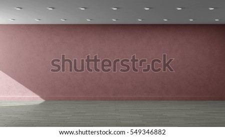 3d illustration template for advertisement, banner, presentation, wall painting with pink wall