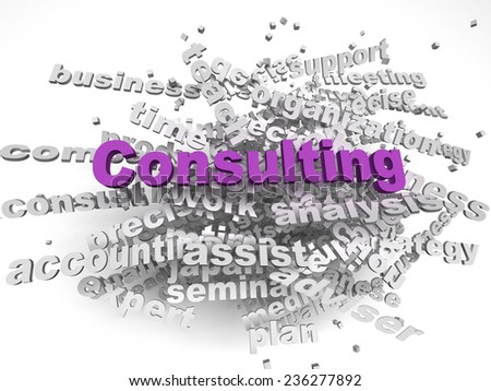 3d image Consulting issues concept word cloud background - stock photo