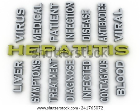 3d image Hepatitis  medical concept word cloud background - stock photo