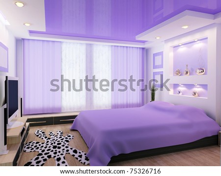 3d image of a modern interior design - stock photo