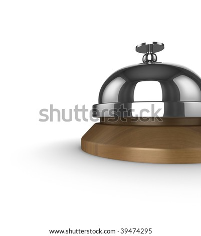 3d image of a service, or hotel reception bell.