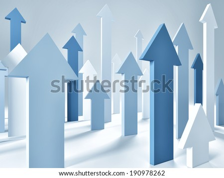 3d image of blue arrows background