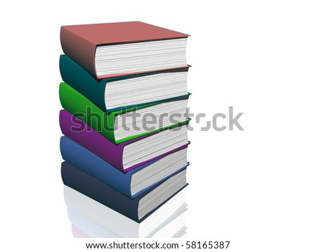 3d image of book illustration