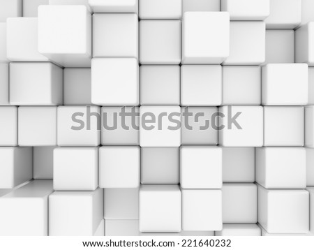 3D image of box abstract background.
