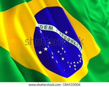 3d image of brazil flag