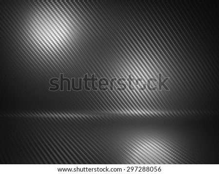 3d image of classic carbon fiber texture - stock photo