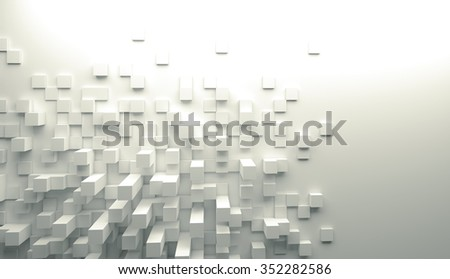 3d image of cubes geometric background - stock photo