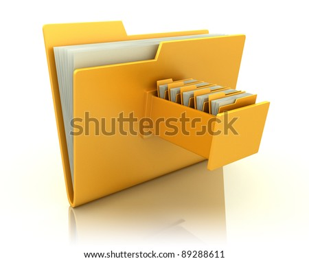3d image of file folder - stock photo