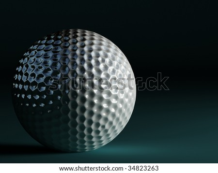 3d image of fine classic golf ball background