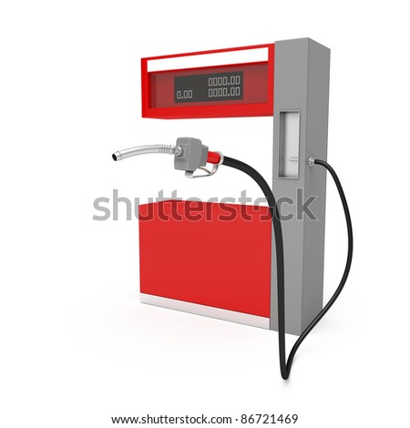 3d image of fuel pump on white background - stock photo