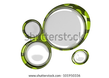 3d image of glossy abstract shape background - stock photo