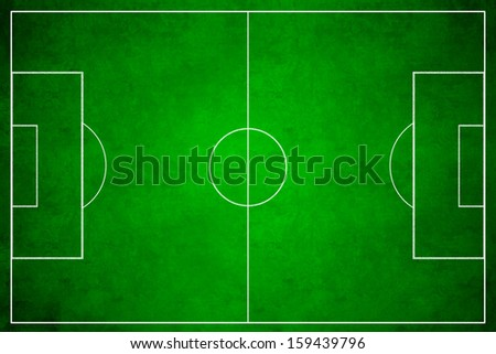 3d image of green soccer field, football - stock photo