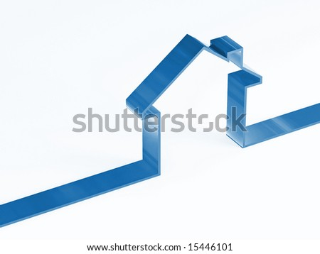 3d image of house concept, metaphor symbol background - stock photo