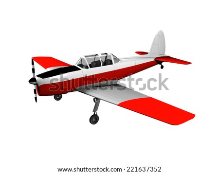 3D image of plane, isolated on white. - stock photo