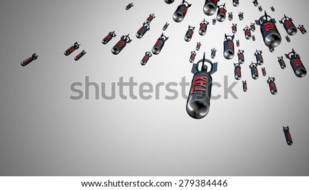 3d image of tax bomb - stock photo