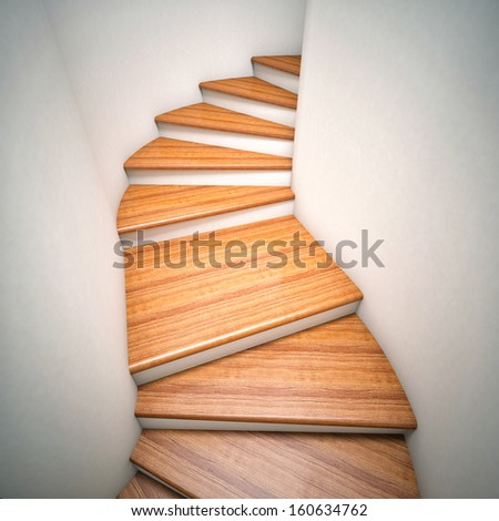 3d image of wood stair