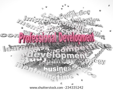 3d image professional development  issues concept word cloud background - stock photo