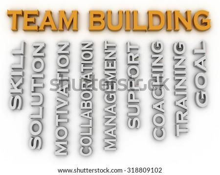 3d image Team Building word cloud concept - stock photo
