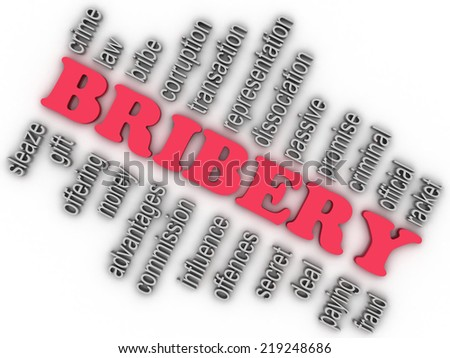 3d imagen Bribery concept word cloud background - stock photo