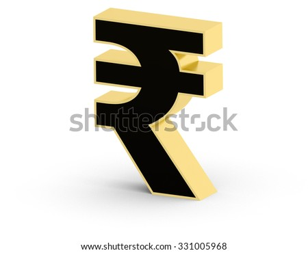 3 D Indian Rupee Currency Symbol Stock Illustration 331005968