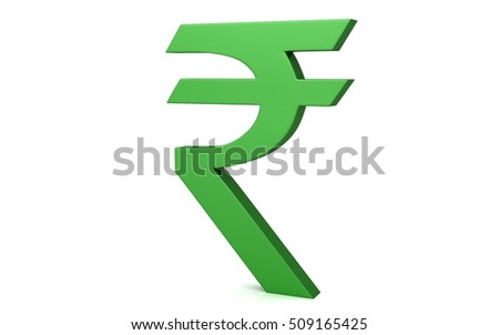 3 D Indian Rupee Symbol Isolated On Stock Illustration 509165425