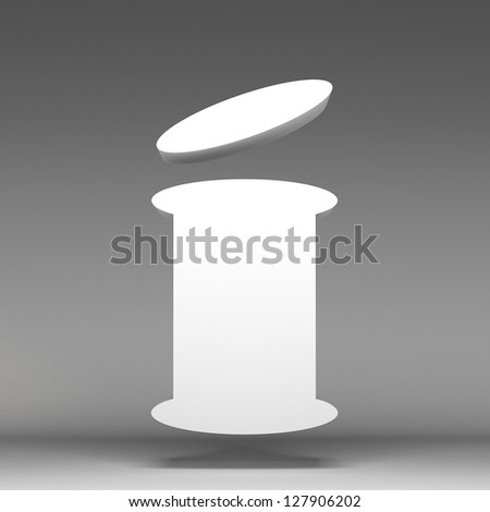 3d information icon - stock photo
