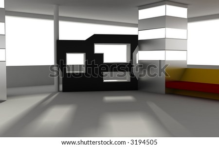 3d interior - stock photo
