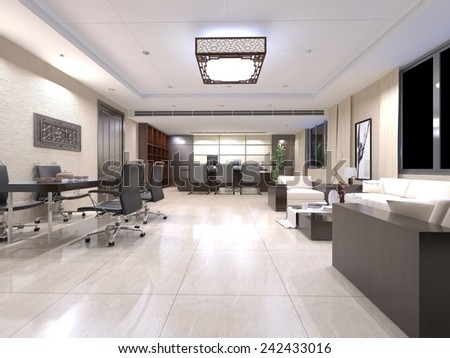 3D interior perspective artwork design  - stock photo