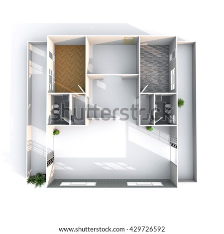 Wireframe house design home design and style for Turn floor plan into 3d model