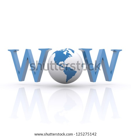 3D Internet concept on the white background. - stock photo
