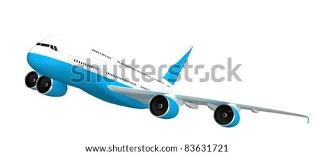 3d Jet airliner. - stock photo