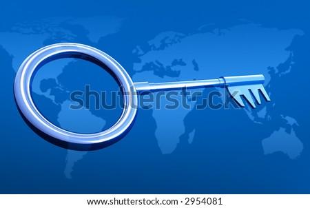 3d--key - stock photo